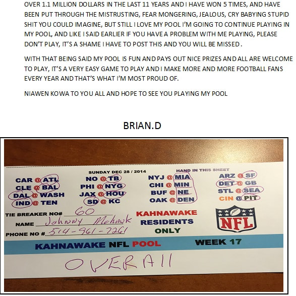 RULES - Brian's NFL Football Pool
